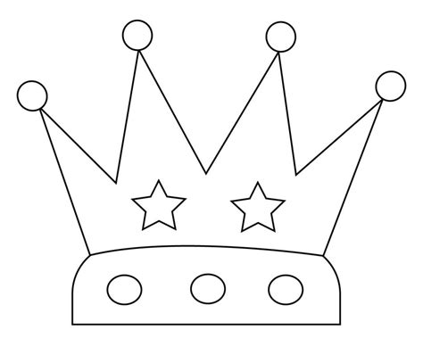 Crown Coloring Pages To Print, Simple, Birthday, Princess