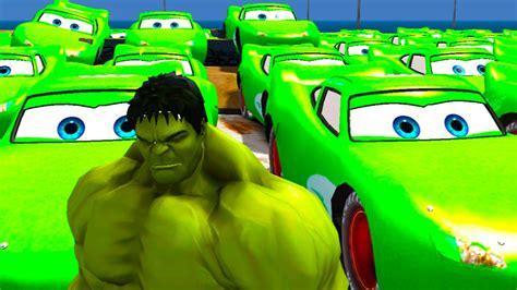 100 Green Lightning Mcqueen For The Incredible Hulk + Kids
