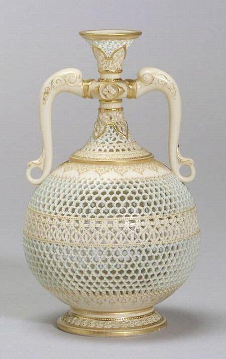 royal worcester porcelain reticulated vase england