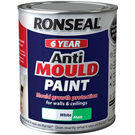 Bathroom Paint Anti Mold by Ronseal 6 Year Anti Mould White Matt Paint For Walls And