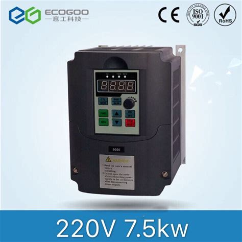 7 5kw 10hp 400hz vfd inverter frequency converter single phase 220v input 3phase 380v output 16a