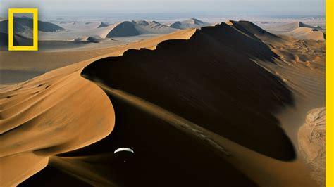 Paragliding Above Extreme Desert Sands   National ...