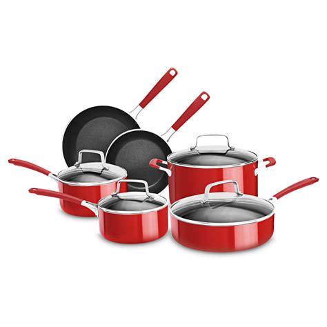 cookware sets pots pans cooking kitchenaid nonstick