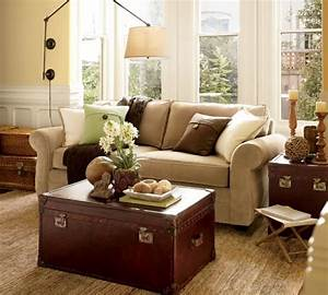 Modernizing and eclecticizing a pottery barn living room for Pottery barn living rooms