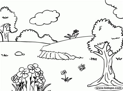 printable nature coloring pages  kids gzkd