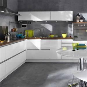 cuisine keywest noir et blanc With modele cuisine noir et blanc