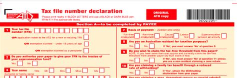 ato tfn application form working holiday aiim financial services