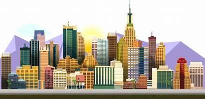 2d Building Cartoon Computer Graphics Gambar Kartun