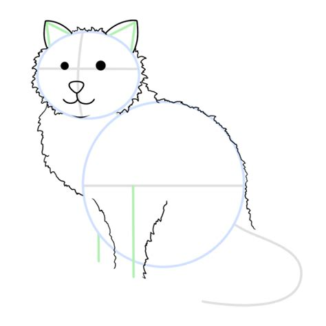 cartoon cat step  step drawing lesson