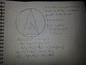 Längenänderung Berechnen : extremwert gleichschenkliges dreieck in kreis mathelounge ~ Themetempest.com Abrechnung