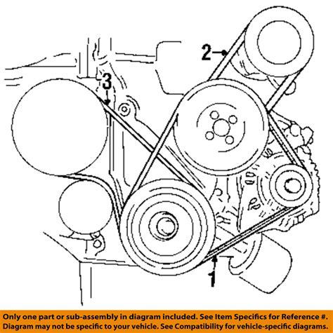 Accent Belt Diagram by Hyundai Oem 96 06 Elantra Alternator Belt 2521223021 Ebay