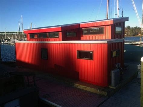 Boat Builder Shipping Container Home by Shipping Containers Used To Build A Houseboat Tiny House