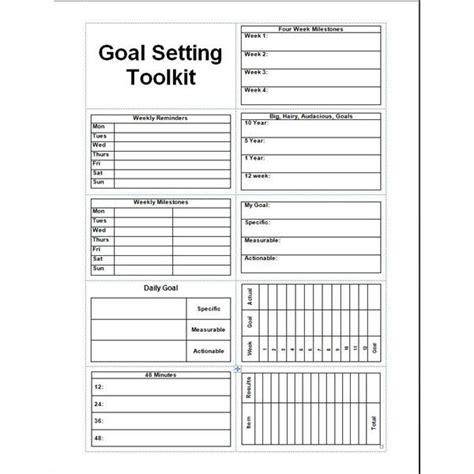 daily planner template printable  goal setter goal