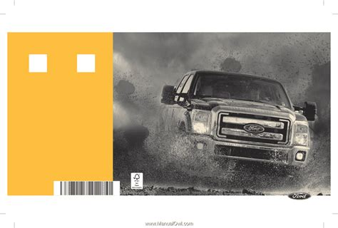 ford  super duty crew cab owner manual printing