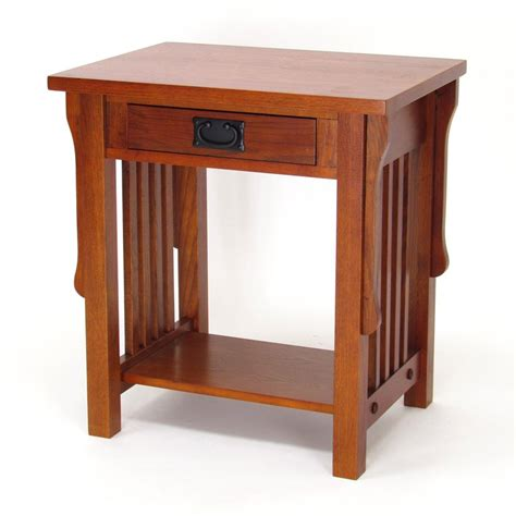 Mission Style Nightstand Plans by Shop Wayborn Furniture Mission Oak Birch Nightstand At
