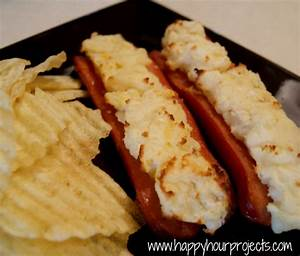 Stuffed Hot Dogs - left over mashed potatoes, mustard and ...
