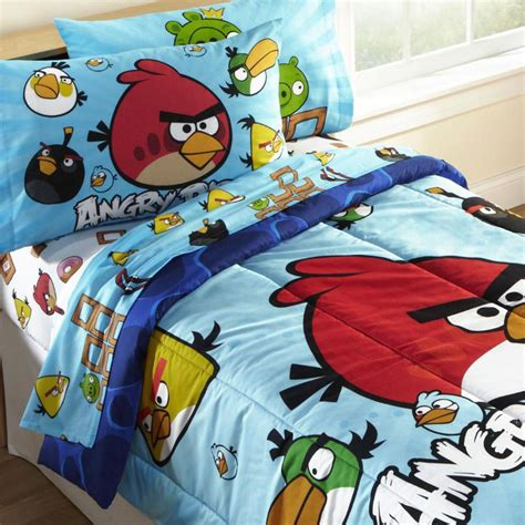 new 4pc angry birds twin bedding set bird pig video game app comforter sheets ebay