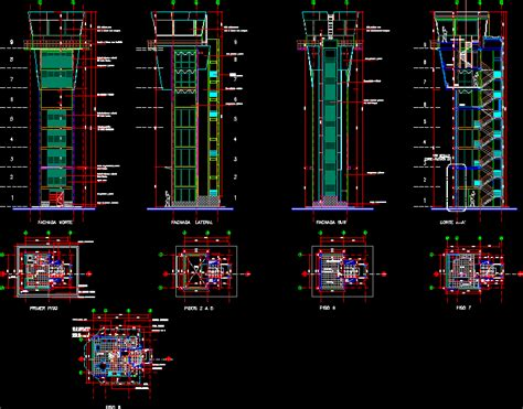 air traffic control tower  autocad cad