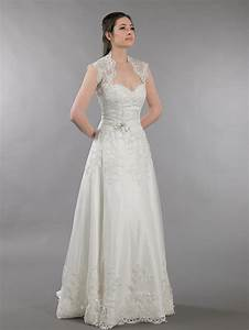 ivory strapless dot lace wedding dress with keyhole back With dressy wedding dresses