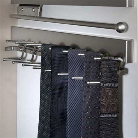 deluxe sliding tie rack satin nickel in tie and belt racks