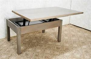 Hi low coffee table de vries woodcrafters for High low coffee table