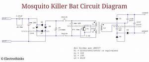 Electrothinks  Mosquito Killer Bat Circuit Working Explanation
