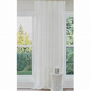 Voilage Lin Blanc : rideau lin blanc ~ Teatrodelosmanantiales.com Idées de Décoration