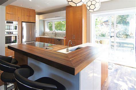 cuisine comptoir bois comptoir de bois design cuisine rénom3