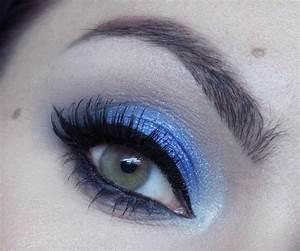 tuto maquillage de soiree mode bleu royal intense youtube With maquillage robe bleu