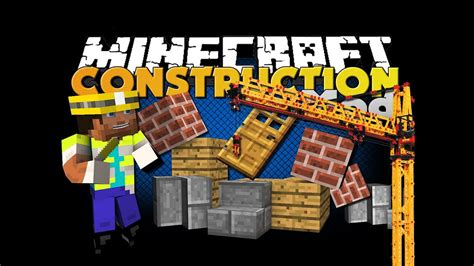 minecraft mod construction mod build houses faster youtube