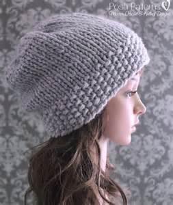 Knit Slouchy Hat Knitting Pattern