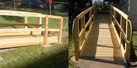 wooden modular wheelchair ramps pro installations  jersey nj mobility mobilitycom