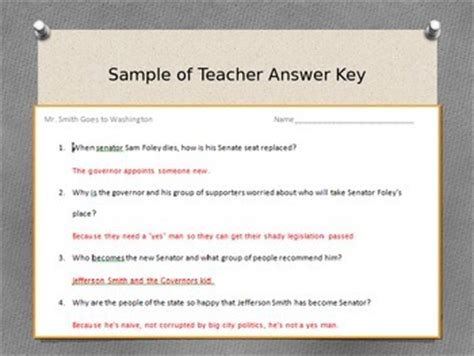 mr smith goes to washington lesson plan pack by