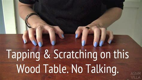 Asmr * Tapping & Scratching * Theme My Wood Table! * Fast