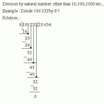 division in decimals divide by natural number meap