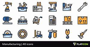 Manufacturing 40 free icons (SVG, EPS, PSD, PNG files)