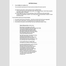 New Eduqas Gcse English Literature, Component 1 Section B  Poetry (part A And B) Peer