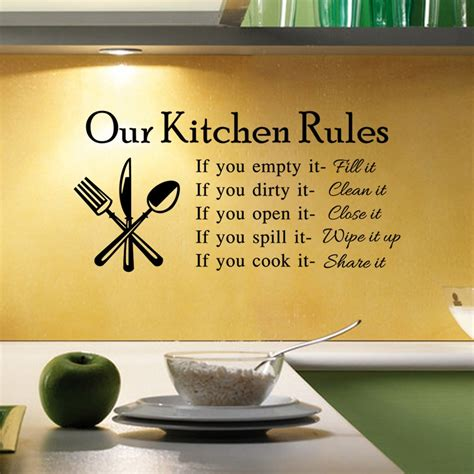 fashion text quotations kitchen wall stickers living