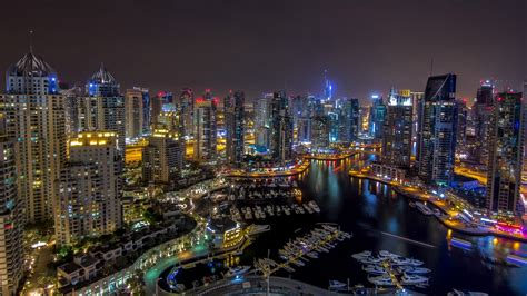 Dubai-night-wallpaper Hd-buildings-skyscrapers-marina