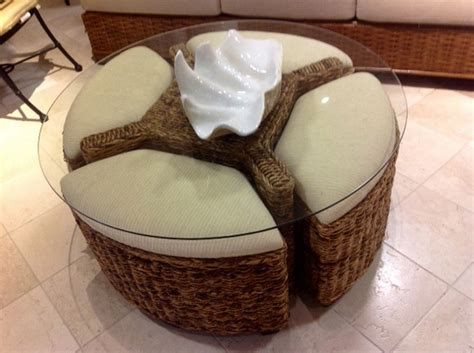 round coffee table target with seating underneath with