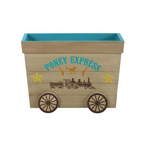 chambre fille cheval coffre à jouets enfant en bois l 60 cm cowboy maisons du