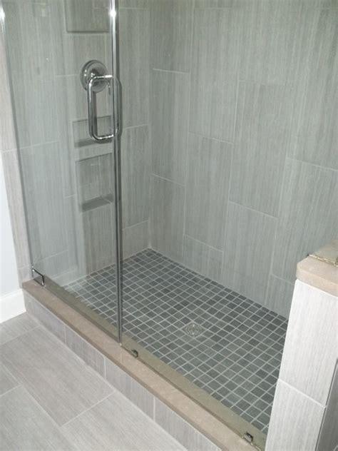 vertical tile contemporary bathroom nashville