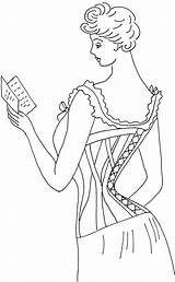 Corsets Comfortable Embroidery Could Been sketch template