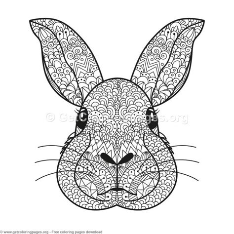 zentangle rabbit pattern coloring pages getcoloringpagesorg
