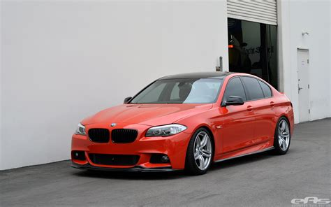 Red Vinyl Wrapped F10 535i M-sport