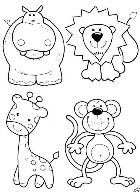 animal coloring pages kids id color  paint