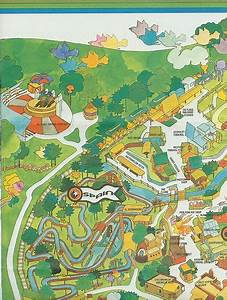 1971 six flags over texas map | Vintage Six Flags over ...