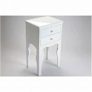 Table De Chevet Blanche Ikea : table de chevet laqu e blanche 2 tiroirs achat vente chevet table de chevet laqu e blan ~ Nature-et-papiers.com Idées de Décoration
