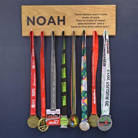 personalised oak medal hanger achievement hook board  pushka gifts notonthehighstreetcom