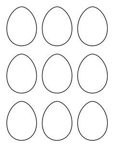 Small Easter Egg Template by Printable Page Large Egg Pattern Use The Pattern For